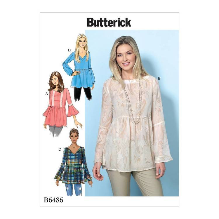 Butterick Pattern B6486 Misses' Loose-Fitting
