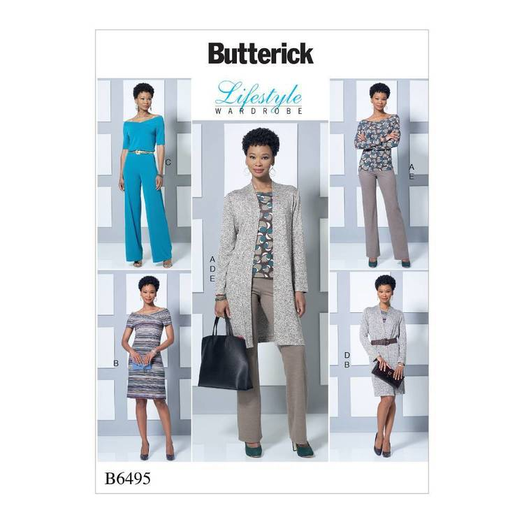 Butterick Pattern B6495 Misses' Knit Off-the-Shoulder Top