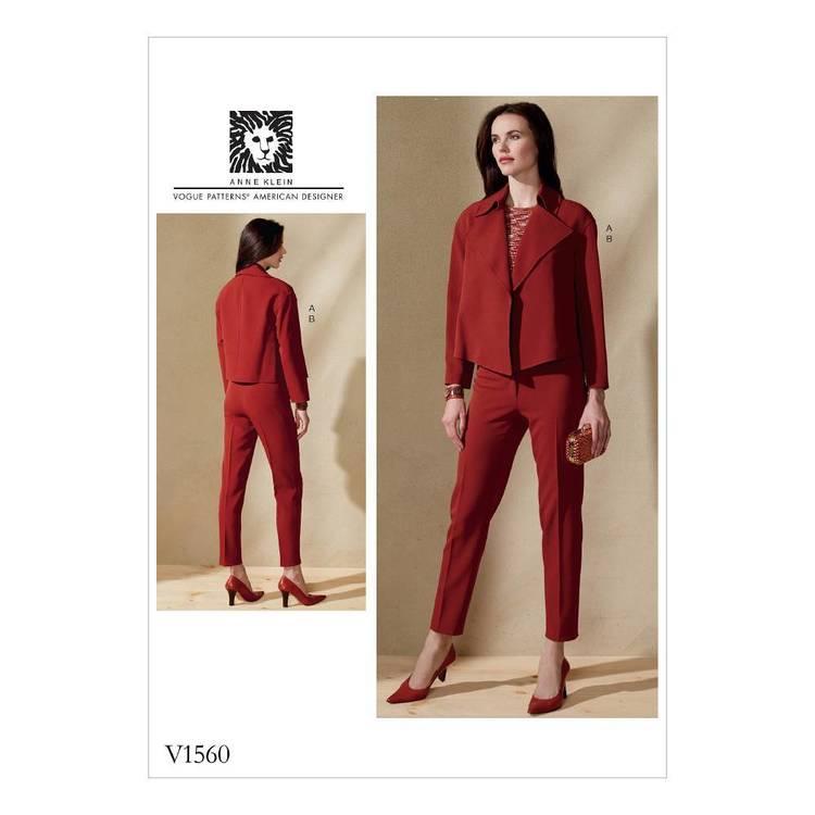 Vogue Pattern V1560 Misses' Open