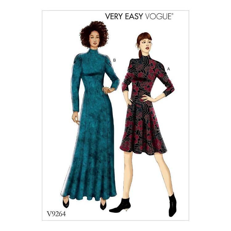 Vogue Pattern V9264 Misses/ Petite Knit Fit-And-Flare Dresses