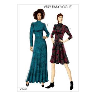 Vogue Pattern V9264 Misses/ Petite Knit Fit-And-Flare Dresses