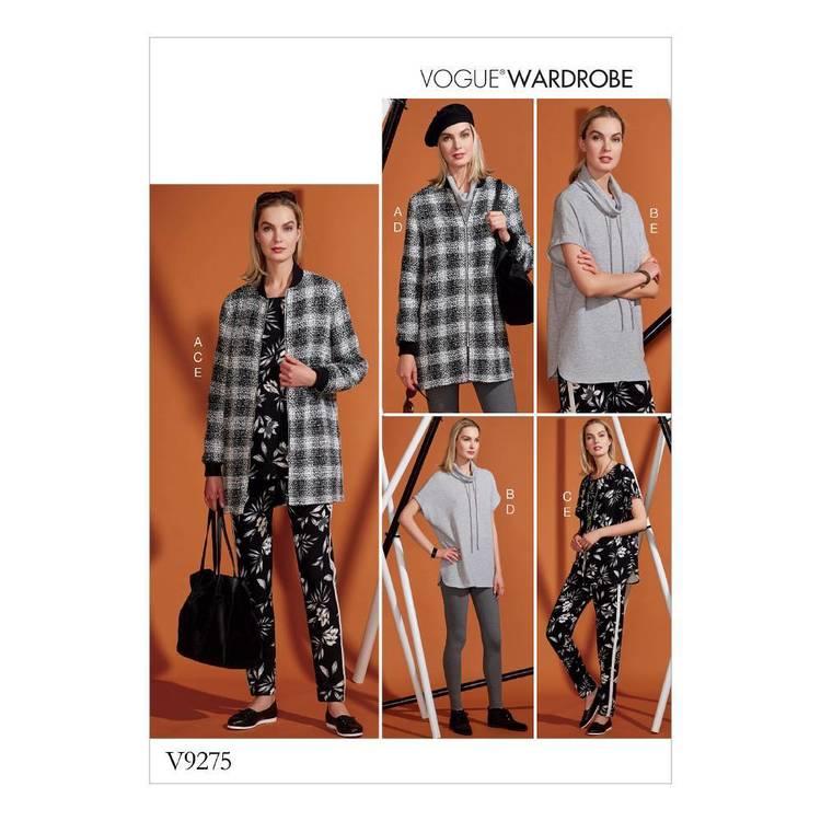 Vogue Pattern V9275 Misses' Lined Zip jacket