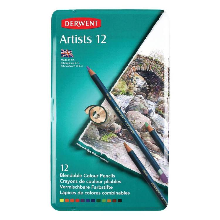 Jasart Derwent Artist 12 Colour Pencils Set