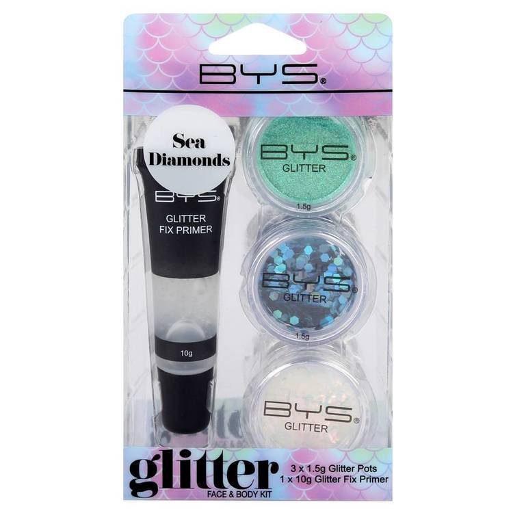 BYS Glitter Face & Body Kit Sea Diamond