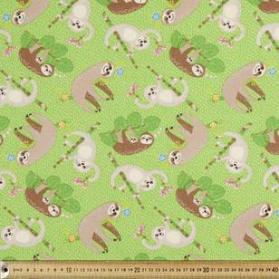 Feeling Slothy Printed Flannelette Fabric