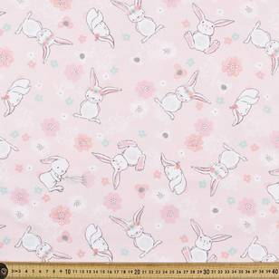 Lovely Bunny Printed Flannelette Fabric