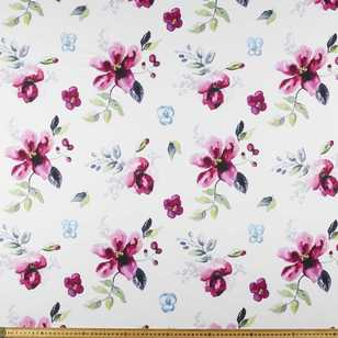 Watercolour Large Floral Printed 148 cm Polyester Fabric