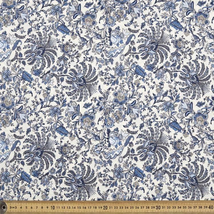 Printed Rayon Jcbean Toile Fabric