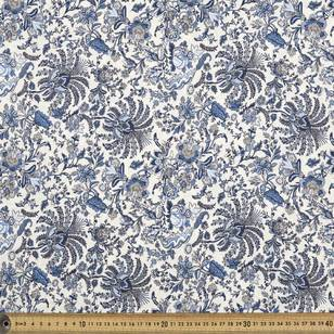 Printed Rayon Jcbean Toile Fabric