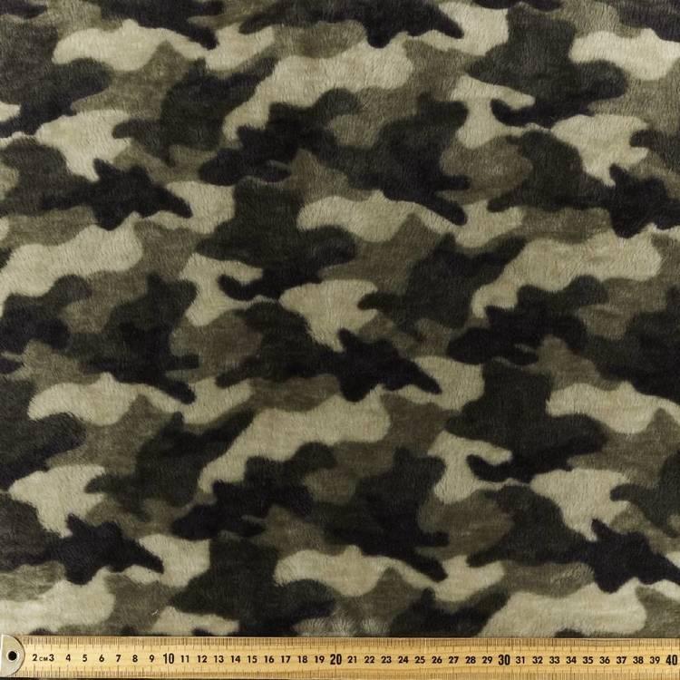 Camo Velour Fleece Fabric