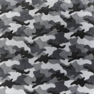 Camo Velour Fleece Fabric