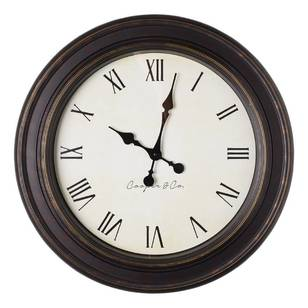 Cooper & Co Jumbo Clock Black Profile