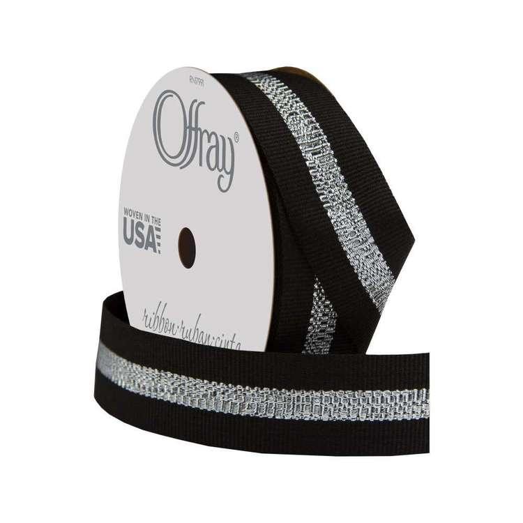 Offray Grosgrain Sparkle Stripe Ribbon