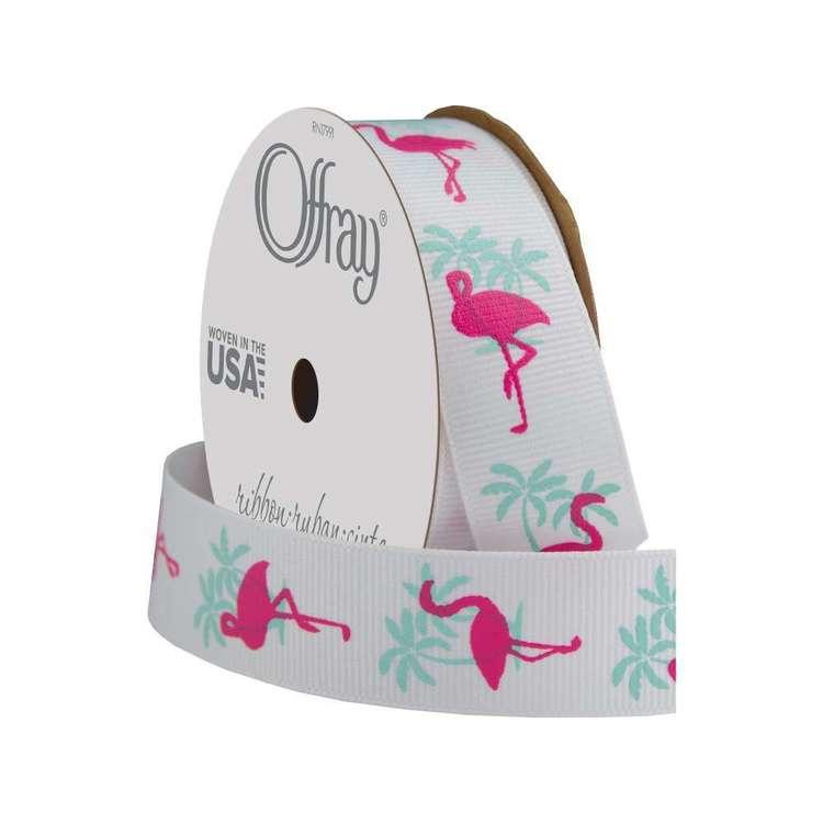 Offray Tropical Flamingo Ribbon