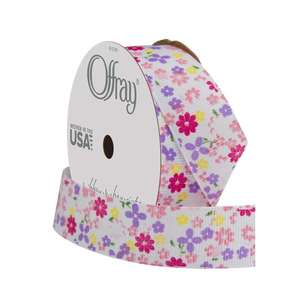 Offray Floral Grosgrain Ribbon
