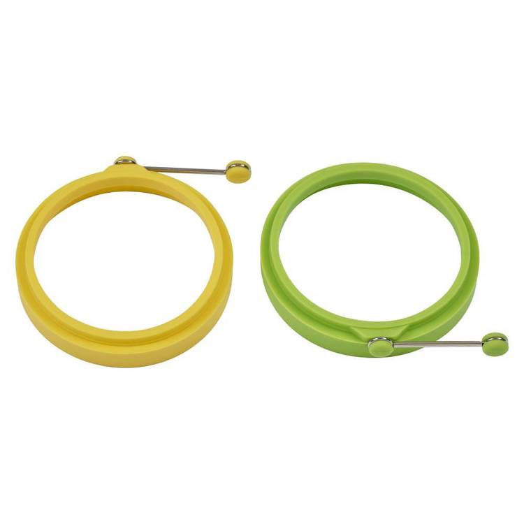 Colormix Candy Aisle Egg Rings Set Of 2 Yellow & Green