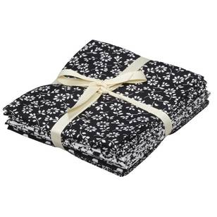 Monotone Floral Fabric Quilting Bundle 2 6 Piece