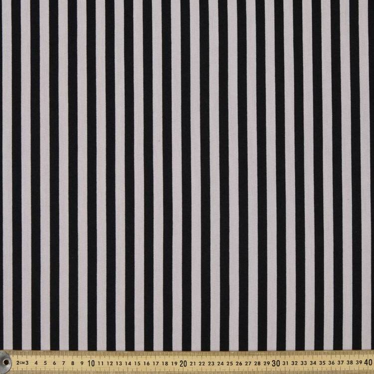Striped Double Knit Fabric