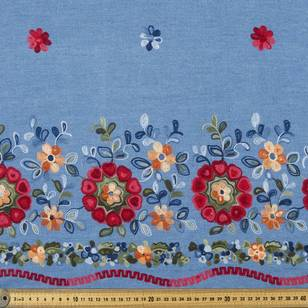 Folk Embroidered Denim