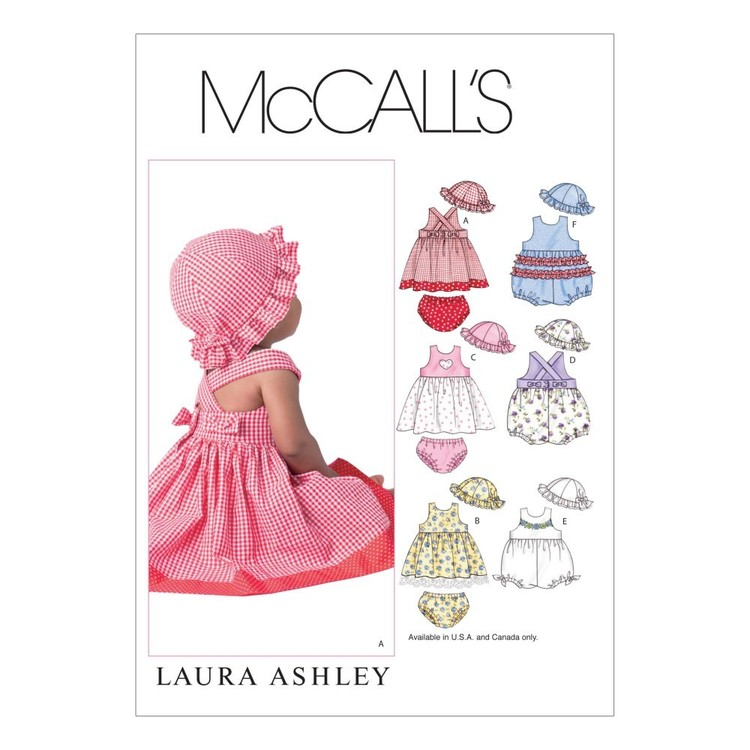 McCall's Pattern M4424 Infants' Criss-Cross Dresses