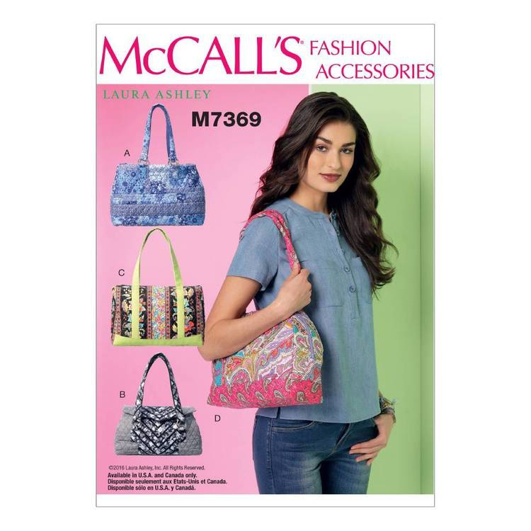 McCall's Pattern M7369 Banded Handbags in Four Styles