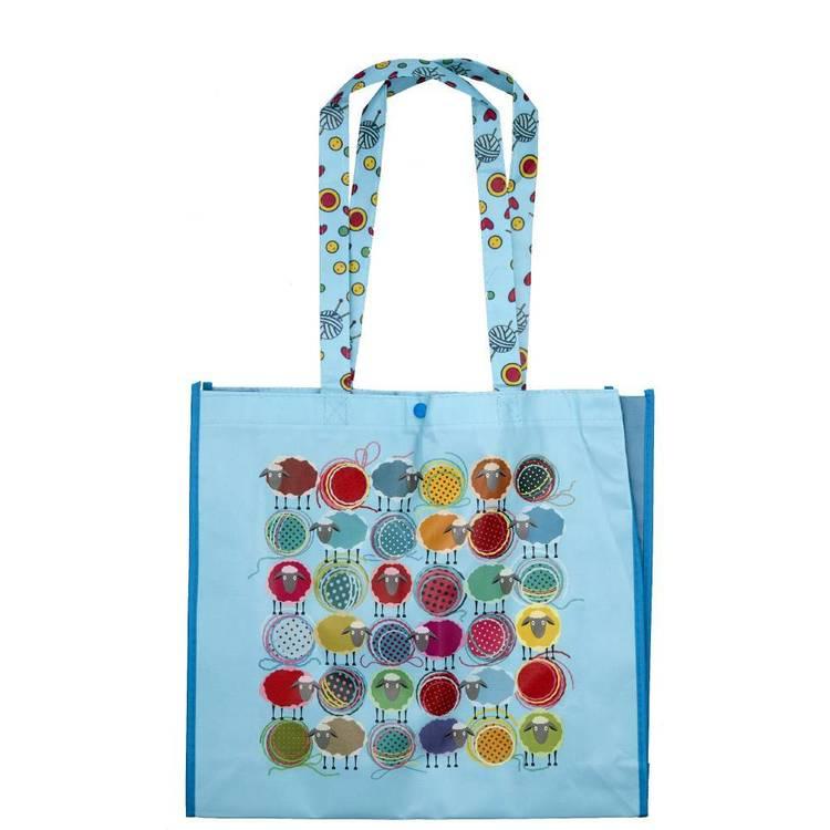 Sew Tasty Knitting Printed Shopping Bag