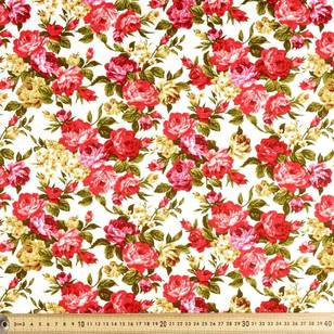 Floral Cottons Rose Large