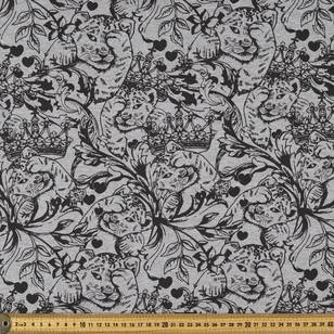 Tattoo Printed French Terry Fabric