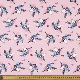 Unicorn Printed French Terry Fabric