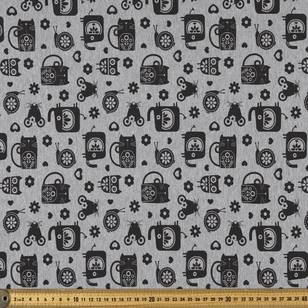 Animals Printed French Terry Fabric