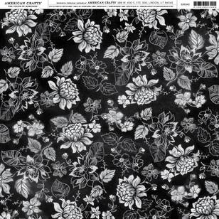 American Crafts Chalk Floral Paper Print