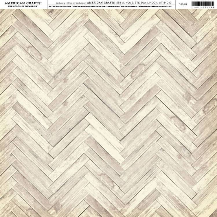 American Crafts Wood Herringbone Print