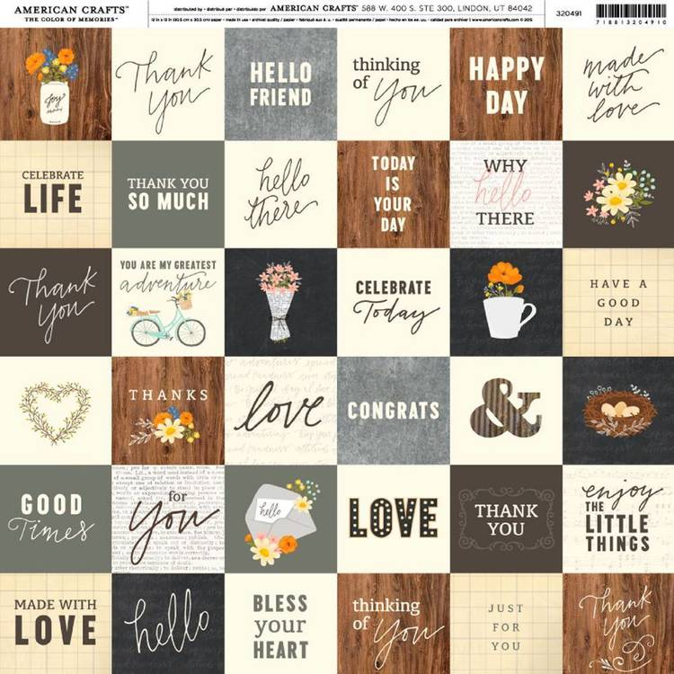 American Crafts Simple Life Greetings Print