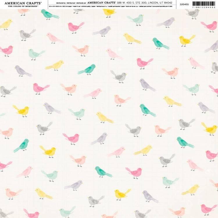 American Crafts Little Birds Print
