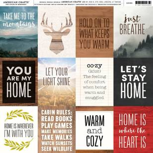 American Crafts Warm Quotes Print