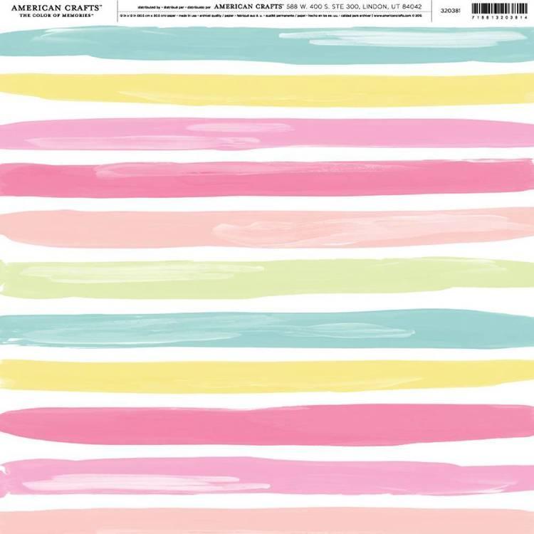 American Crafts Beach Stripe Print
