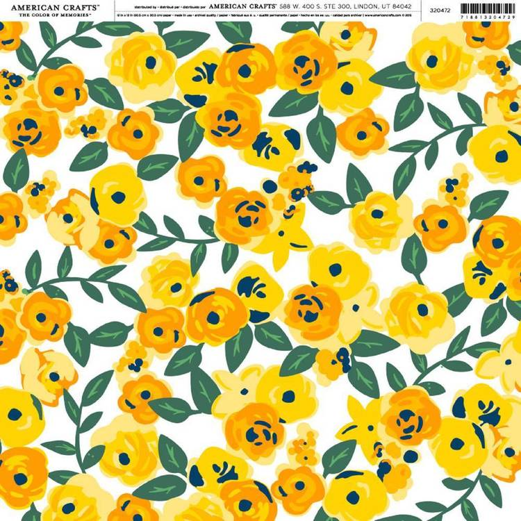 American Crafts Sunny Blossoms Print