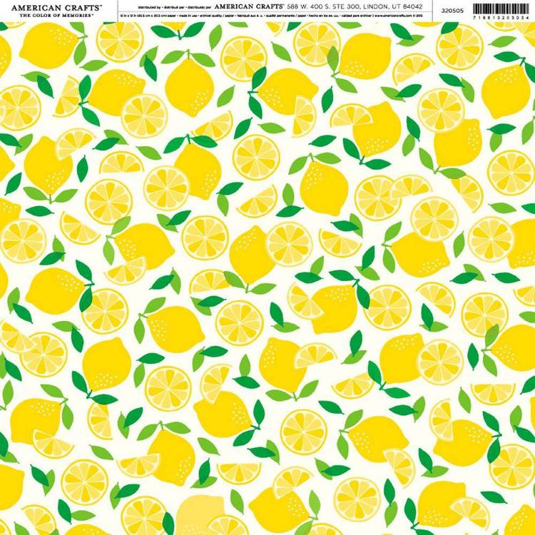 American Crafts Freshly Squeezed Print