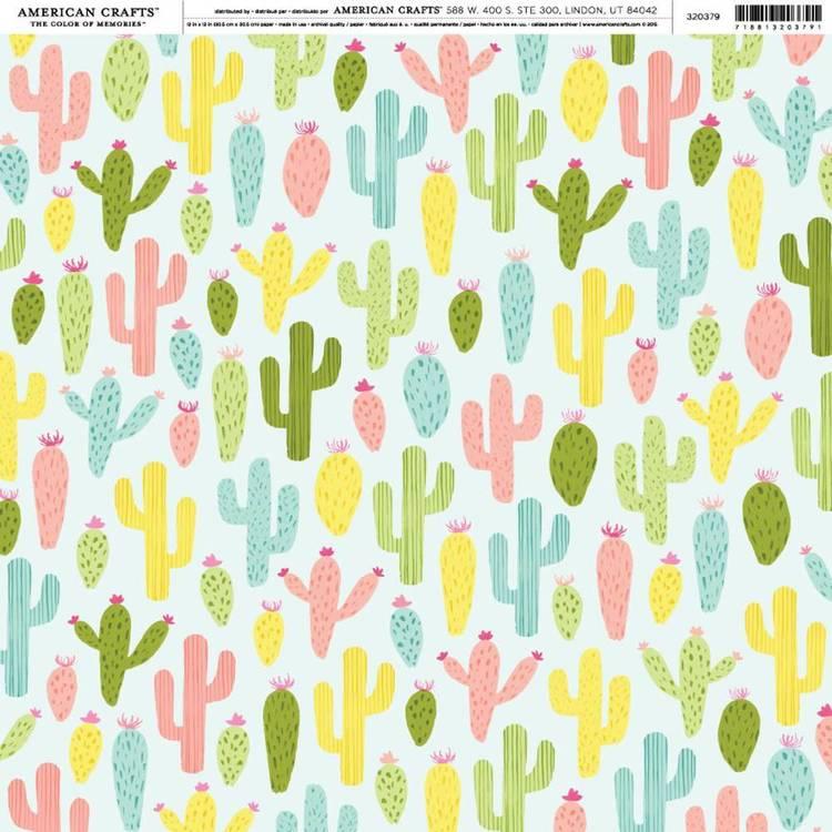 American Crafts Cactus Cooler Print