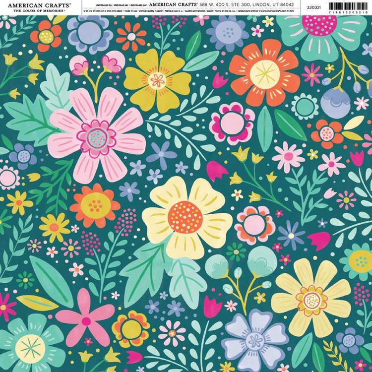 American Crafts Wild Floral Print