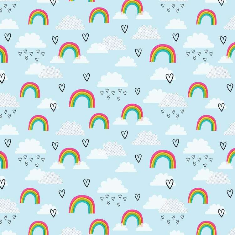 American Crafts Rainbows Print