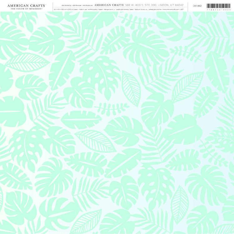 American Crafts Palm Leaf Print
