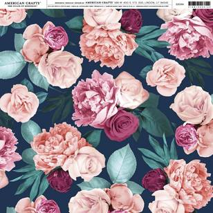 American Crafts Dark Floral Print