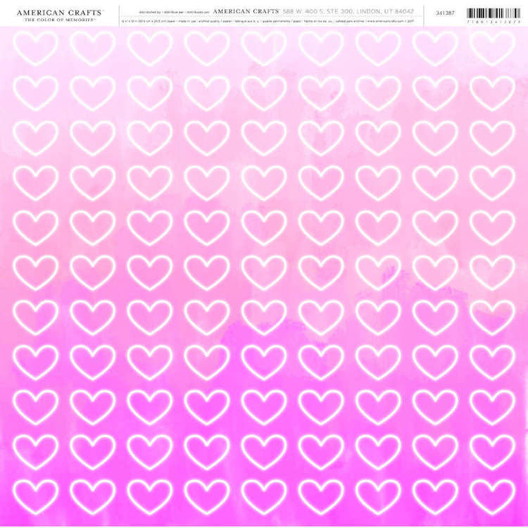 American Crafts Electric Hearts Print