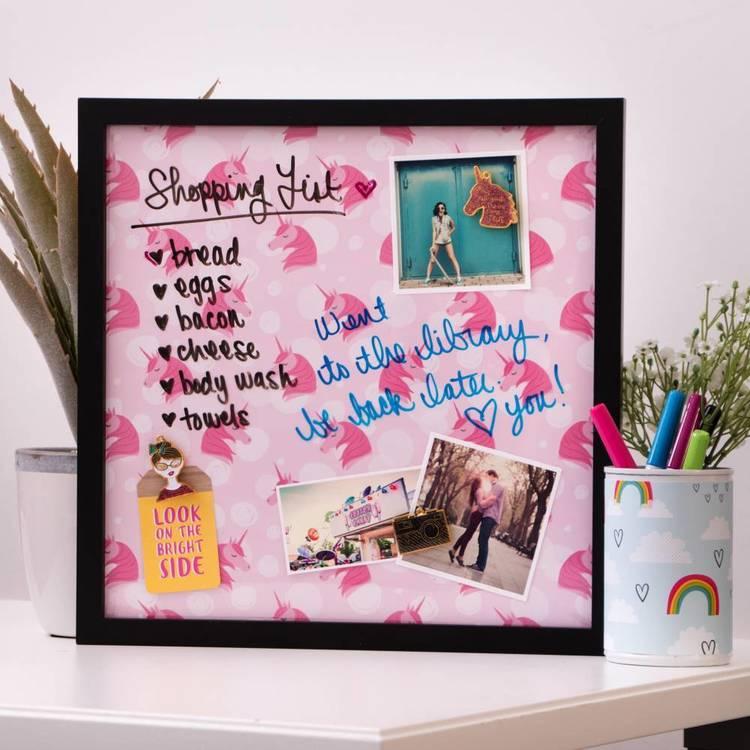 American Crafts Pink Unicorn Print
