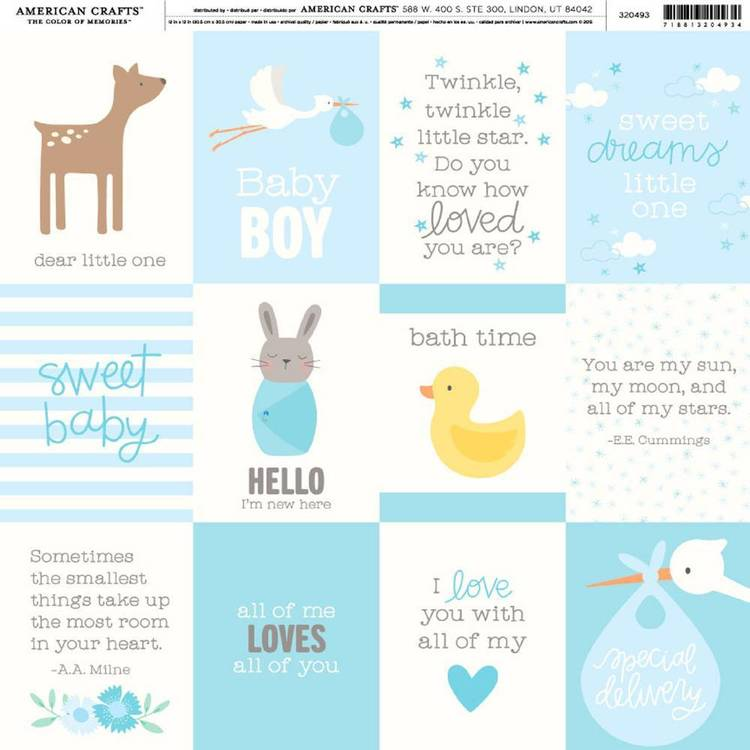 American Crafts Baby Boy Quotes Print