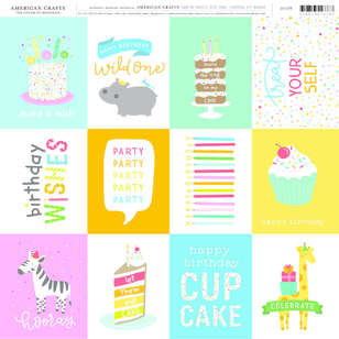 American Crafts Birthday Wishes Print