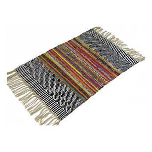 Living Space Chindi Cotton Patterned Doormat