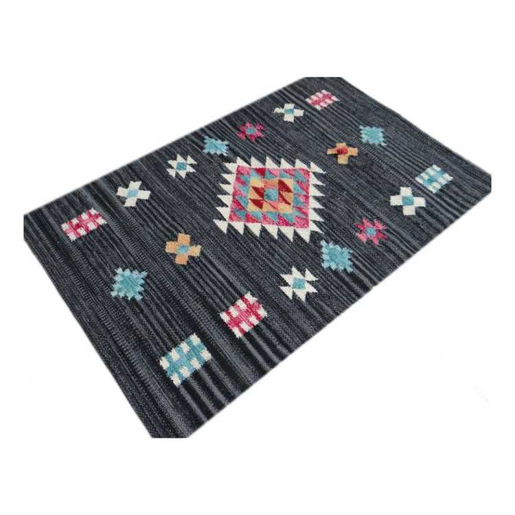 Living Space Chindi Cotton Aztec Design Doormat