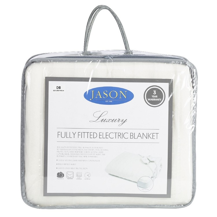 Jason Fitted Electric Blanket White